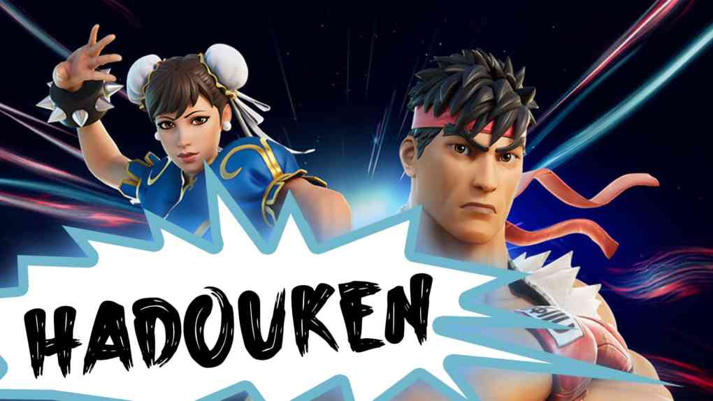 fortnite street fighter hadouken