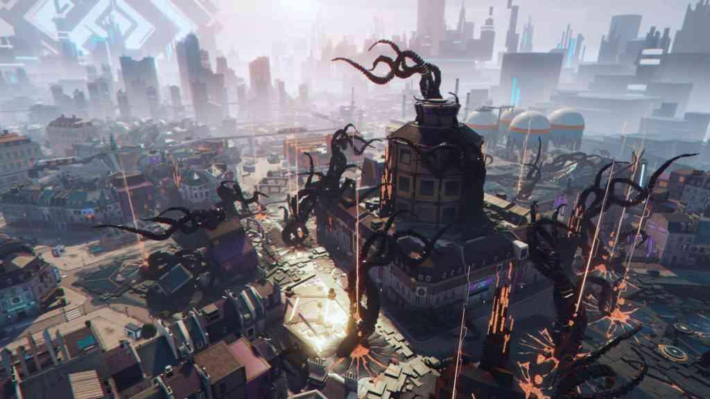 Eine uralte Macht übt Einfluss auf die Welt von Hyper Scape aus. Quelle: Ubisoft