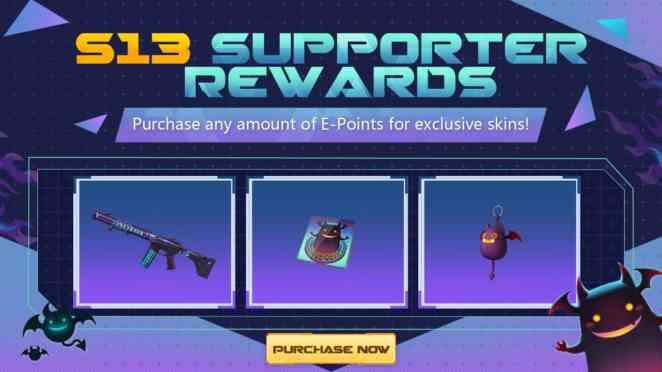 roe season 13 supporter rewards