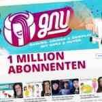 saftiges gnu 1 million abonnenten