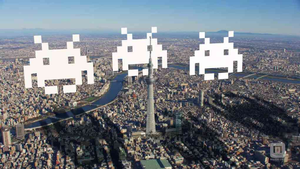 space invaders ar square enix taito