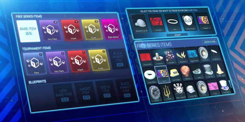 Rocket League neues Trade In Menue Season 3