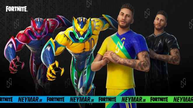 all fortnite neymar jr versions