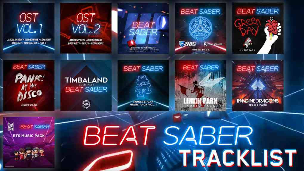 beat saber tracklist alle songs
